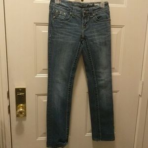 Size 25 Miss Me straight leg women's jeans